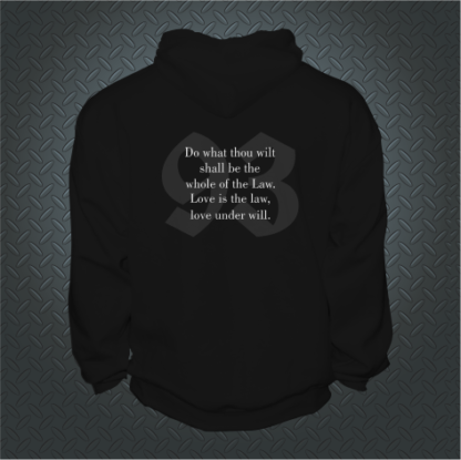 93 Thelemic Do What Thou Wilt Hoodie Back