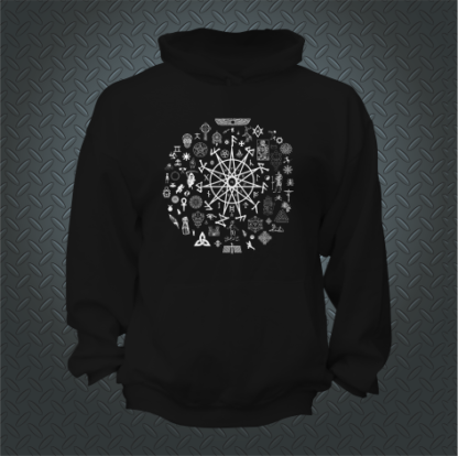 Abracadabra Clothing 11 Pointed Star Hoodie Front