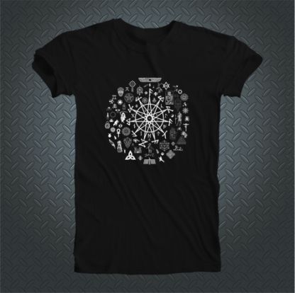 Abracadabra Clothing 11 Pointed Star Tshirt Front