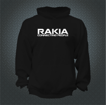 Rakia Connecting People Hoodie Front