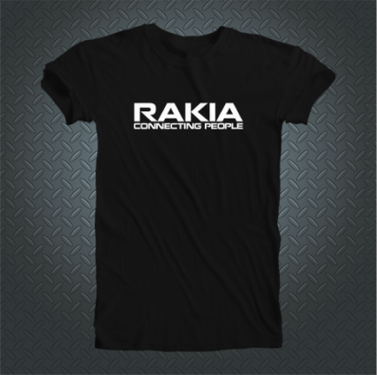 Rakia Connecting People Tshirt Front