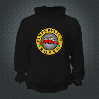 Campervans And Roses Hoodie