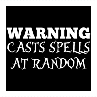 Warning Casts Spells At Random